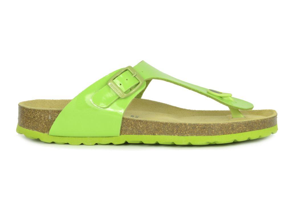75b4cc17b44886 Sanosan Geneve Lacquered Green Womens Designer Thong Sandals ...