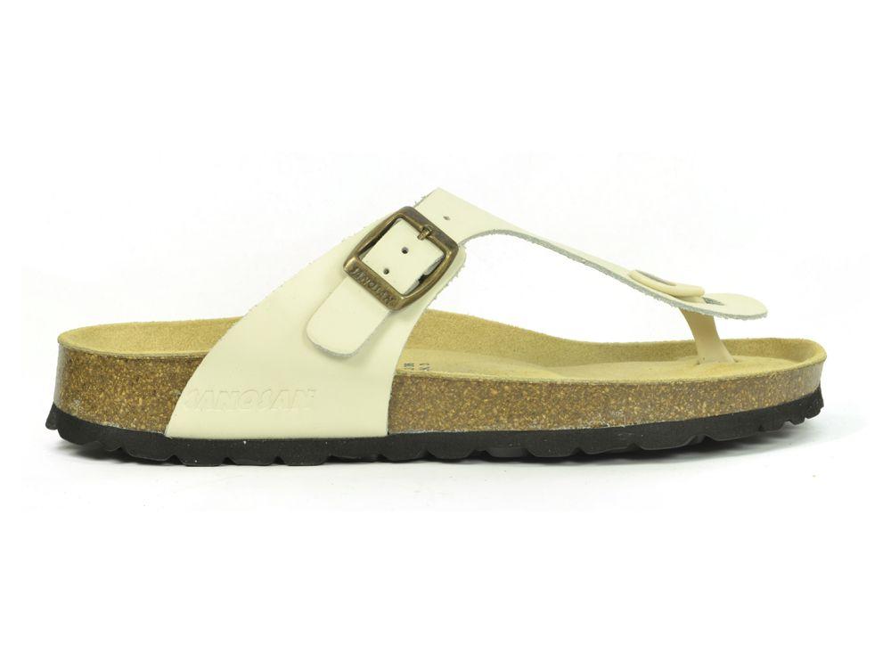 001d257812d182 Sanosan Geneve Leather Ivory Womens Designer Thong Sandals ...