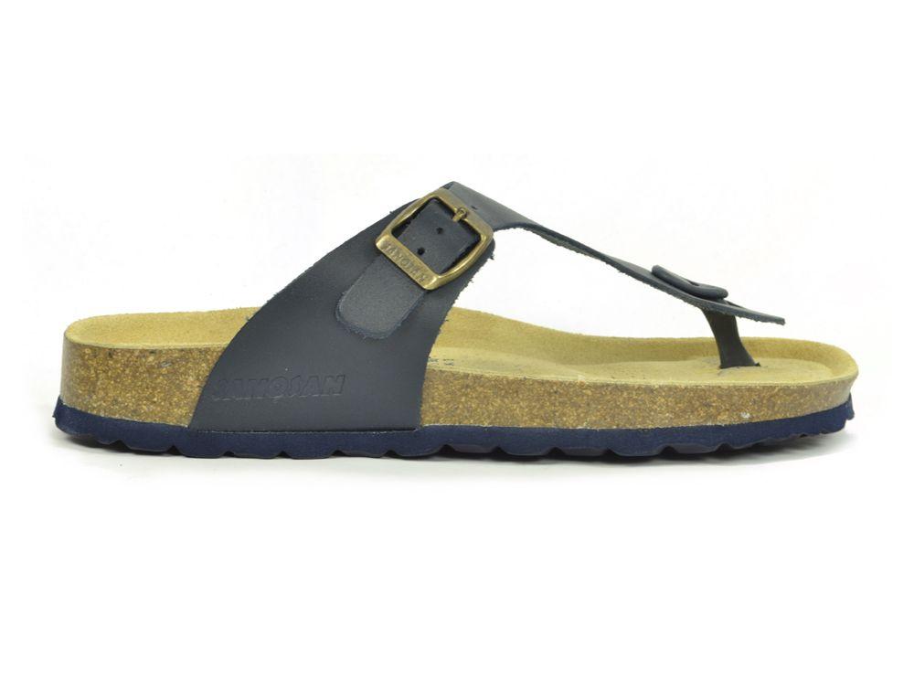 d11c7148ed8c56 Sanosan Geneve Leather Navy Womens Designer Thong Sandals ...