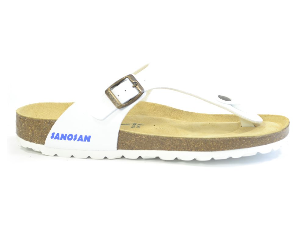bea1ed4b81a1e3 Sanosan Geneve Sano Flor White Womens Designer Thong Sandals ...