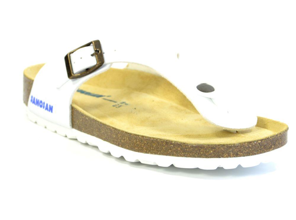 5462fcea998d54 ... Sanosan Geneve Sano Flor White Womens Designer Thong Sandals ...