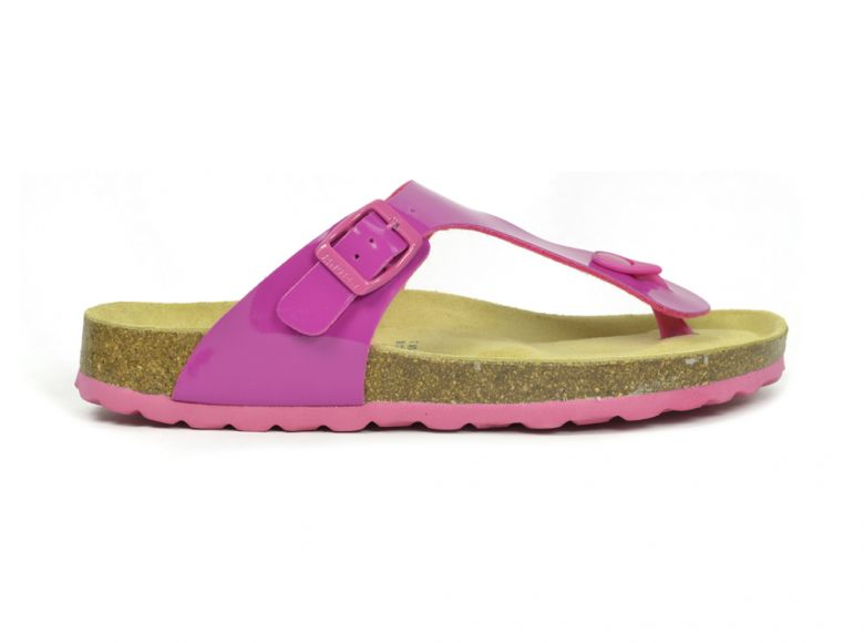 Sanosan Geneve Lacquered Fuchsia Womens Designer Thong Sandals